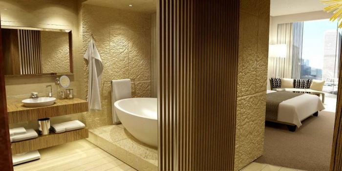 Hyatt Capital Gate Abu Dhabi - King Room Bathroom
